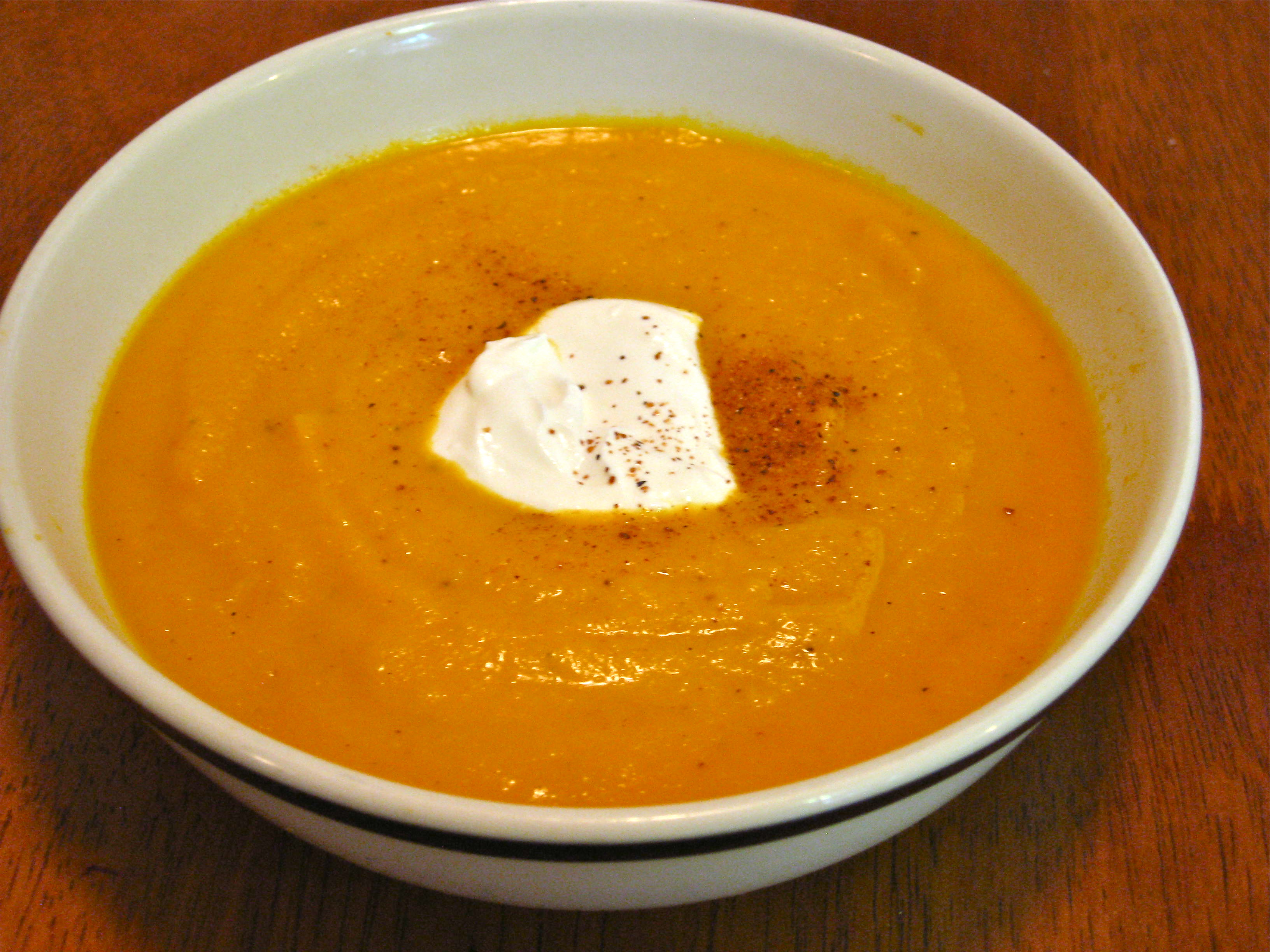 Apple, Carrot, Sweet potato and Ginger soup My Bakers Dozen